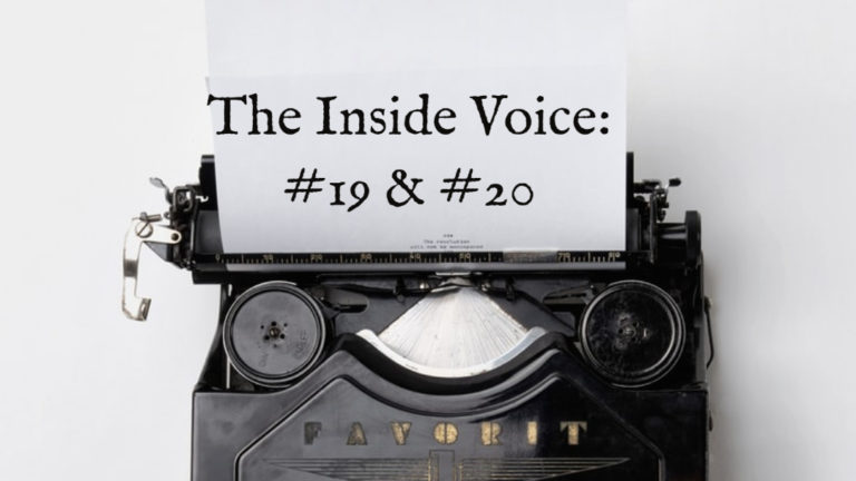 "The Inside Voice #19 – ""Cheering"" and the Inside Voice #20 -""On This Day"""